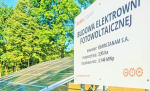 The photovoltaic power plant KGHM Zanam